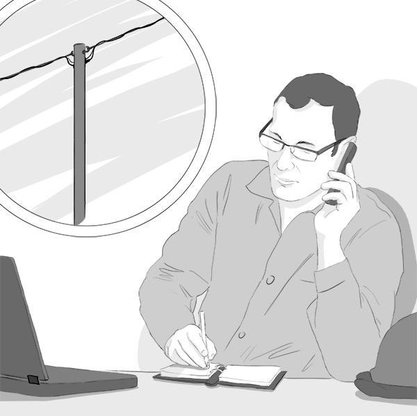 Puunkaatoapu: pienjännitejohdon osalta annamme kaatoluvan ja ohjeet yleensä puhelimessa.
