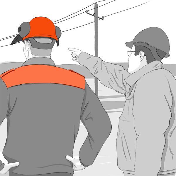 Puunkaatoapu: keskijännitejohdon osalta varmistamme turvallisen kaatamisen paikan päällä.